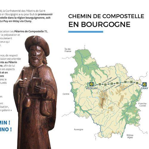 Chemin de Compostelle en Bourgogne, de Gray à Vezelay