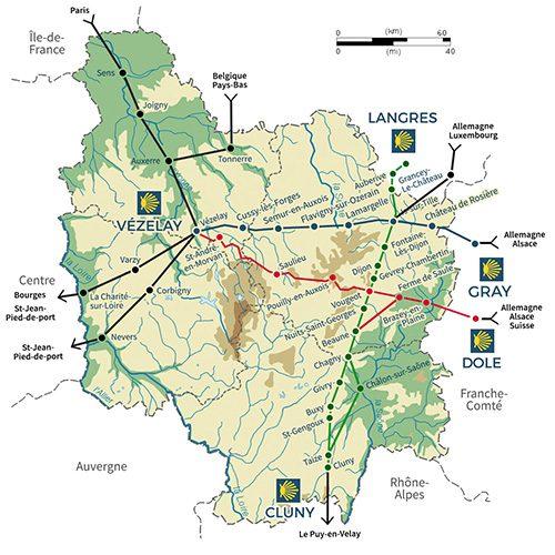 Saint Jacques de Compostelle en Bourgogne