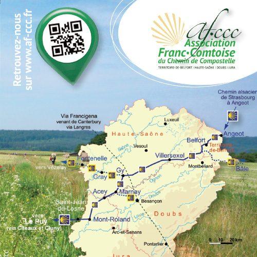 Vereniging van Franche-Comté voor de Weg naar Compostela - Recto
