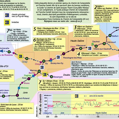 Association franc comtoise du chemin de Compostelle - Verso