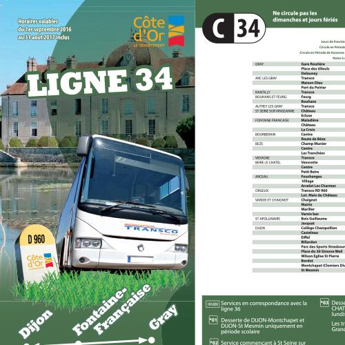 Bus Dijon Gray via Fontaine