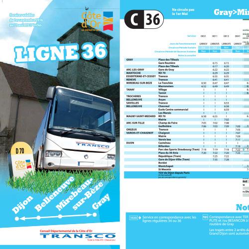Bus Dijon Gray via Mirebeau
